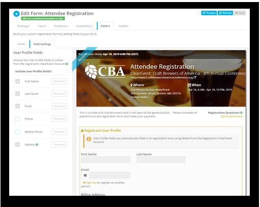 Registration Form Designer